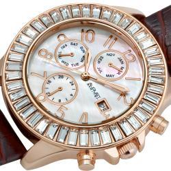 August Steiner Women's Water-resistant Swiss Quartz Baguette Bezel Watch