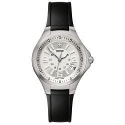 Victorinox Swiss Army Women's Base Camp Silver Dial Rubber Strap Watch