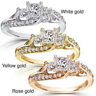 Annello 14k Gold 1ct TDW Diamond Engagement Ring (H-I, I1-I2)