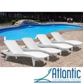 Mykonos White Loungers (Set of 4)