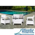 Mykonos 4-piece White Conversation Set