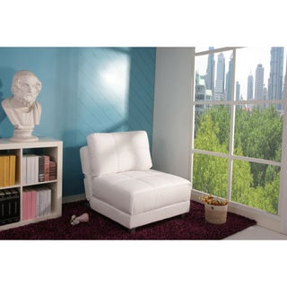 New York White Convertible Chair Bed
