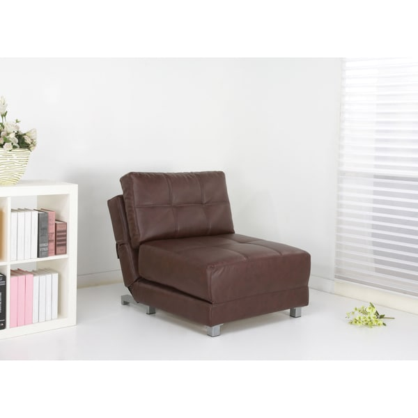 New York Almond Convertible Chair Bed