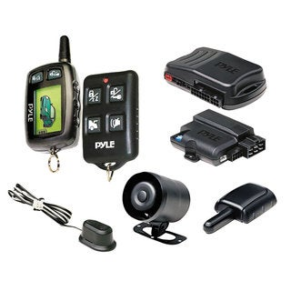 Pyle LCD 2-Way Remote Start Security System with Advanced Impact Sensor
