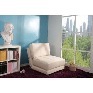 New York Ivory Convertible Chair Bed