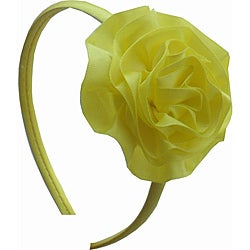 Bow Clippeez 2 Envy Girl's Satin Ruffle Flower Headband