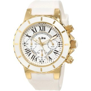 Women's AL-20103DV 'Marina' Chronograph White Textured Dial Watch