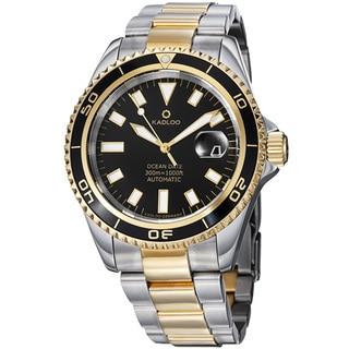Kadloo Men's 'Ocean Date' Stainless Steel Two Tone Automatic Watch