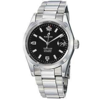 Kadloo Men's 'Ocean Class' Black Dial Stainless Steel Automatic Watch