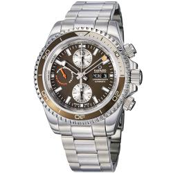 Kadloo Men's 87420-BR 'Windward Master' Brown Dial Chronograph Watch
