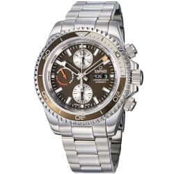 Kadloo Men's 'Windward Master' Brown Dial Chronograph Watch