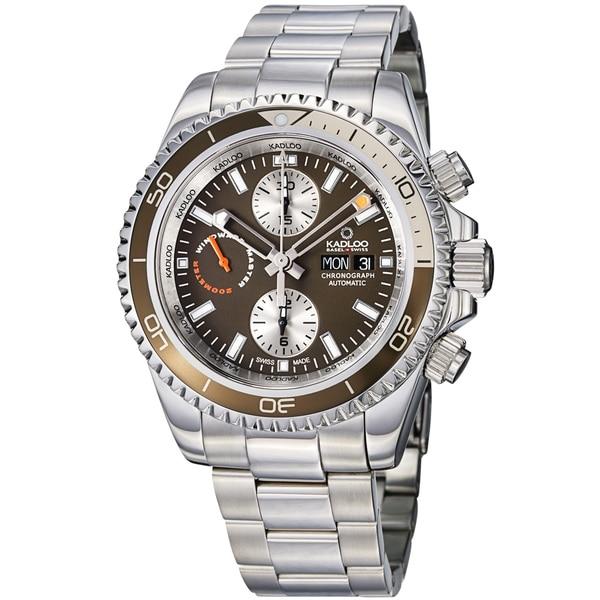 Kadloo Men's 87420-BR 'Windward Master' Brown Dial Chronograph Watch