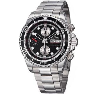 Kadloo Men's 'Vintage Trophy' Black Dial Chronograph Automatic Watch