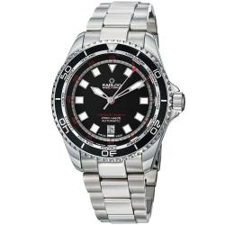 Kadloo Men's 'Vintage Trophy' Black Dial Stainless Steel Watch