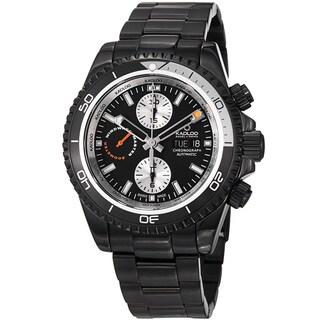 Kadloo Men's 'Windward Master' Black Stainless Steel Chronograph Watch