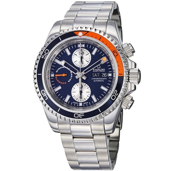 Kadloo Men's 'Windward Master' Blue Dial Chronograph Watch