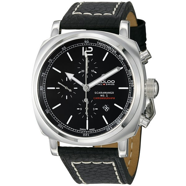 Kadloo Men's 'Scaramango' Black Dial Black Strap Chronograph Watch