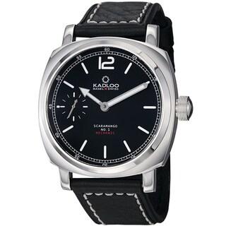 Kadloo Men's 'Scaramango' Black Dial Leather Strap Mechanicial Watch