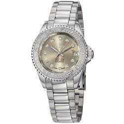 Kadloo Women's 'Match Race' Grey Diamond Dial Stainless Steel Watch