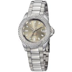 Kadloo Women's 'Match Race' Grey Dial Stainless Steel Watch