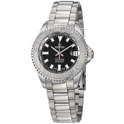 Kadloo Women's 'Match Race' Black Dial Stainless Steel Watch