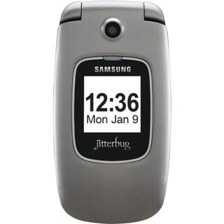 Samsung Jitterbug Plus Cellular Phone - Flip - Silver