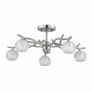 Cosmo 5-light Satin Nickel Semi-flush Fixture