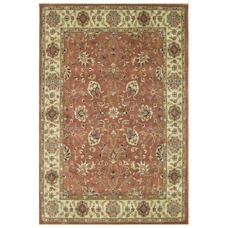 Alliyah Hand-Made 100 Percent Rust New Zeland Persian Wool Rug (9' x 12')