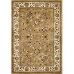 Alliyah Handmade Leek Green New Zealand Wool Rug (9' x 12')