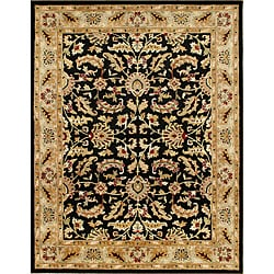 Hand-made Black Taj Mahal Persian Wool Rug (8' x 10')