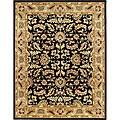 Alliyah Handmade Black New Zealand Blend Wool Ru (8' x 10')