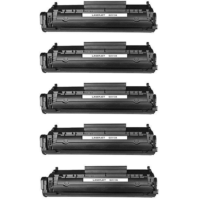 Hewlett Packard Q2612A Black Toner Cartridges (Pack of 5) (Remanufactured)