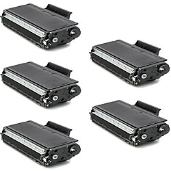 Brother TN580 Black Toner Cartridges (Pack of 5) (Remanufactured)
