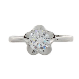 Nexte Jewelry Solitaire Center Stone Blossom Ring