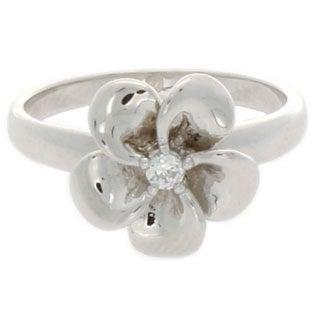 Nexte Jewelry CZ Center Stone Flower Ring