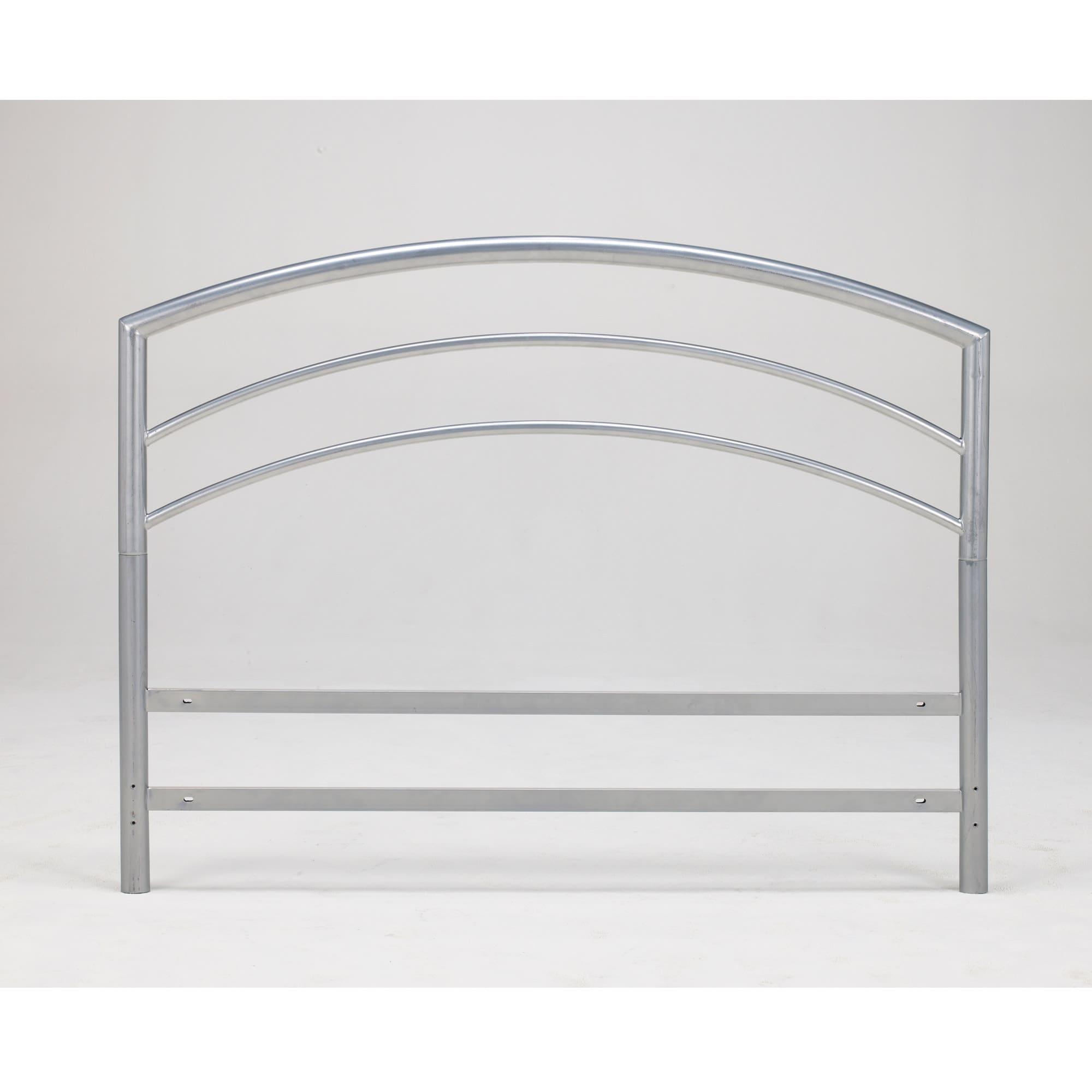 Arch Flex DB Full-size Silver Metal Headboard