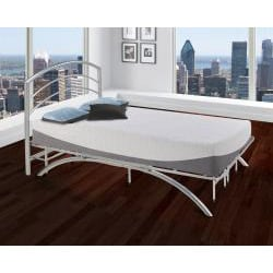 Arch Flex DB Full-size Silver Metal Headboard