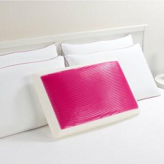 Comfort Memories Pink Wave Memory Foam and Gel Bed Pillow