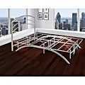 "Arch Flex Twin 14"" Silver Platform Frame with Headboard"