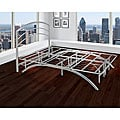 "Arch Flex Full 14"" Silver Platform Frame with Headboard"