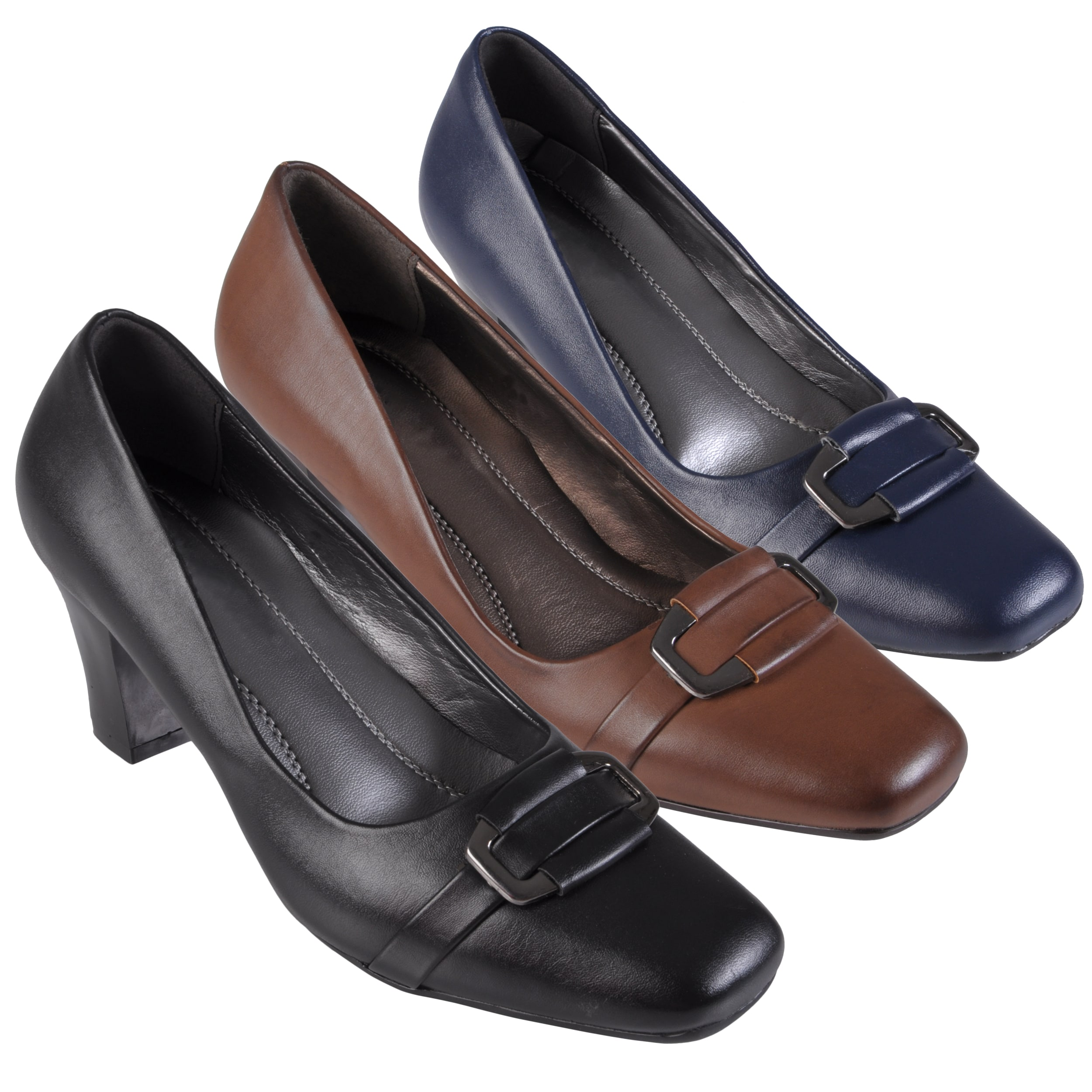 Journee Collection Women's 'Cary-14' Faux Leather Square Toe Loafers