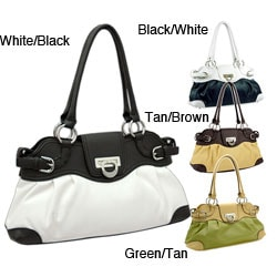 Dasein Two-tone Shoulder Bag