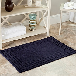 Safavieh Spa 2400 Gram Luxury Navy 27 x 45 Bath Rug (Set of 2)