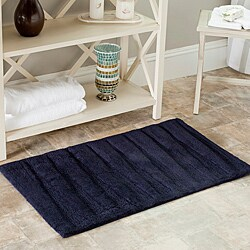 Safavieh Spa 2400 Gram Journey Navy 27 x 45 Bath Rug (Set of 2)