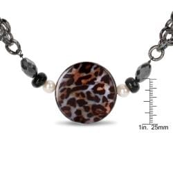 Miadora Goldtone Leopard Print 28-inch Fashion Necklace