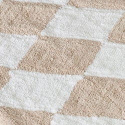 Spa 2400 Gram Harlequin Cream/ Beige Gram Mats (Set of 2)