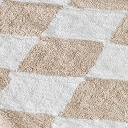 Spa 2400 Gram Harlequin Cream/ Beige Gram 27 x 45 Bath Rug (Set of 2)