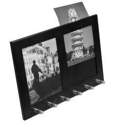 Two Section Picture Frame with 6 Position Key Holders