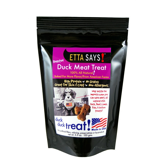 Roasted Duck Meat Treats-Med/Large (5.5 Ounces)