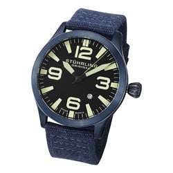 Stuhrling Original Men's Tuskegee Skylancer Canvas Strap Watch